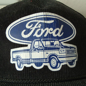 Ford truck corduroy trucker style hat distressed